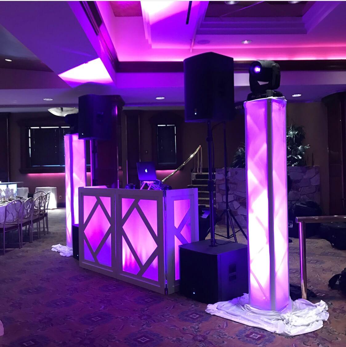 wedding dj setup