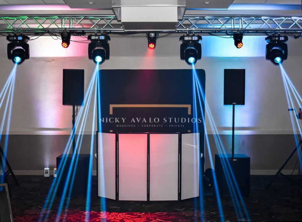 wedding and private party DJ set up